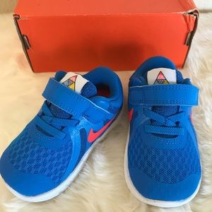 Nike Revolution 4 (TD) Toddler Shoes Photo Blue